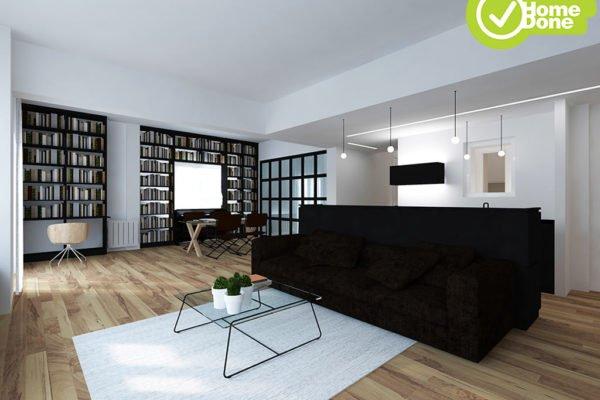 Ανακαίνιση σπιτιού στην Κυψέλη - Ενιαίος χώρος